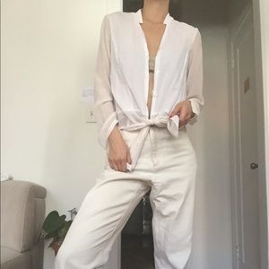 Helmut Lang button down blouse